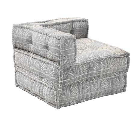 Комплект пуф и възглавница за под Yantra Grey Beige