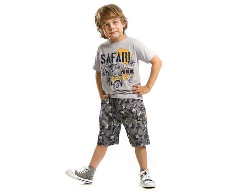 Set tricou si pantaloni scurti pentru copii Safari Camouflage