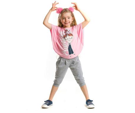 Set bluza si pantaloni trei sferturi pentru copii Sweety