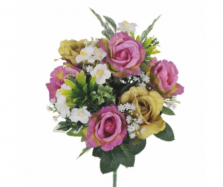 Buchet flori artificiale Roses and Hydrangea Lilac