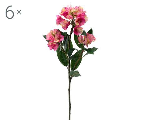 Set 6 umjetnih cvjetova Rhododendron Pink