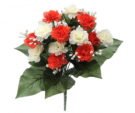 Buchet flori artificiale Carnation and Gypsophila   Red