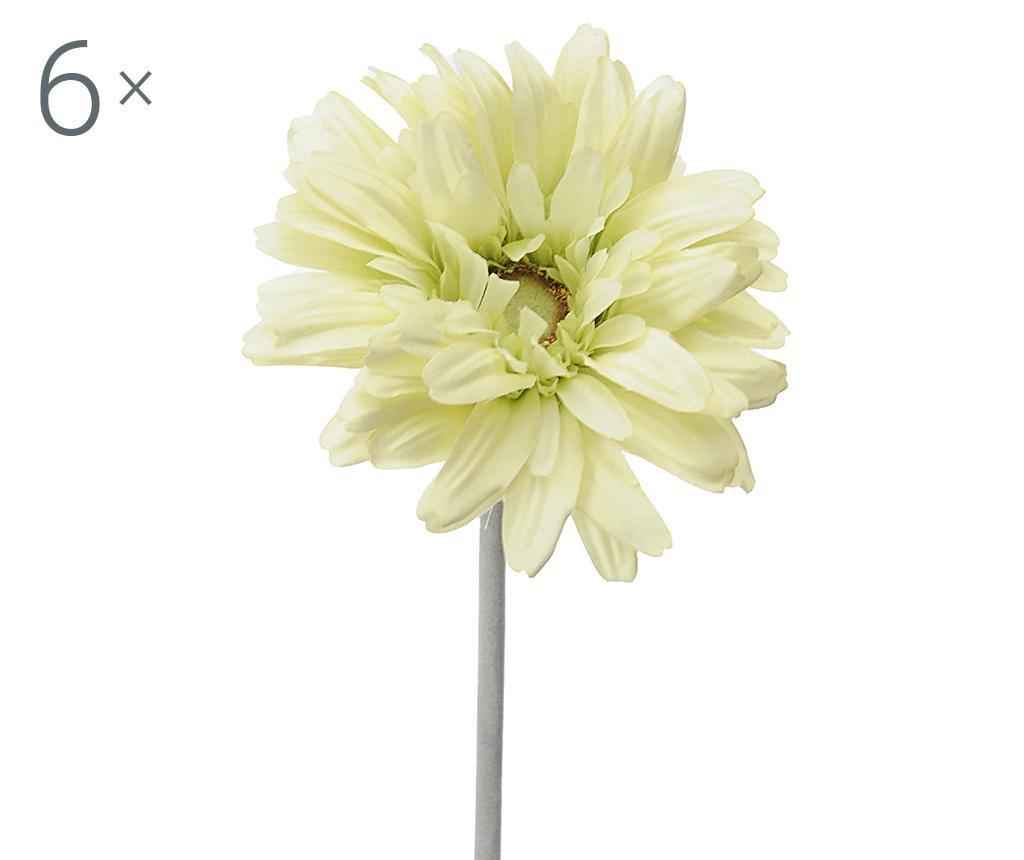 Set 6 flori artificiale Transvaal Daisy Green