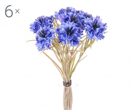 Set 6 buchete flori artificiale Cornflower