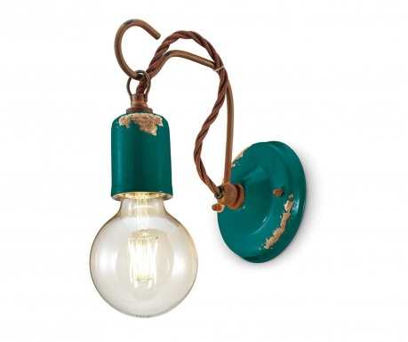 Nástěnné svítidlo Vintage Hook Blue