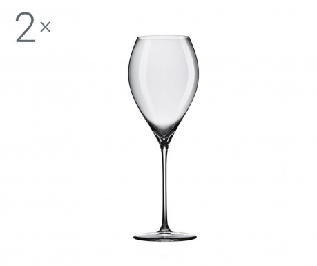 Set 2 pahare pentru vin Rona Grace Crystalite 580 ml