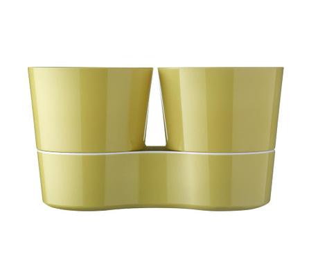 Σετ 2 γλάστρες με συστήματα αυτόματου ποτίσματος Hydro Herb Lemon