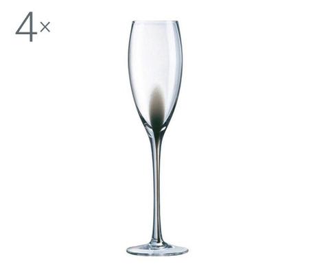 Set 4 pahare cu picior Luminarc Drip 220 ml