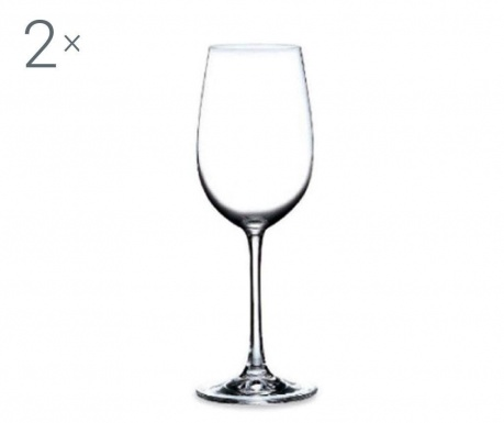 Set 2 pahare pentru vin Rona Magnum Crystalite 440 ml