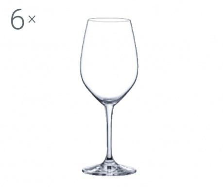 Set 6 pahare pentru vin Rona Yarra Crystalite 380 ml