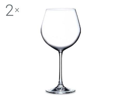 Set 2 pahare pentru vin Rona Magnum Crystalite 650 ml