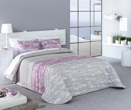Set s prešitim posteljnim pregrinjalom Single Sibela Pink