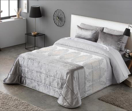 Set s prešitim posteljnim pregrinjalom King Kristel Grey