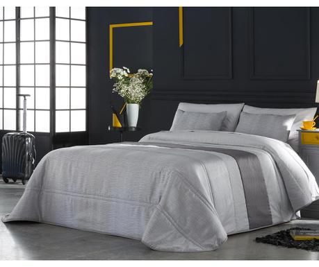 Set s prešitim posteljnim pregrinjalom King Dion Grey