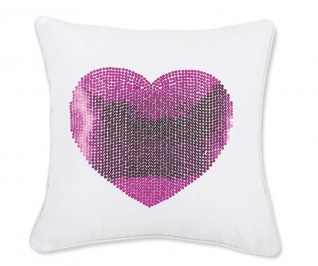 Prevleka za blazino Luxury Love White and Pink 45x45 cm