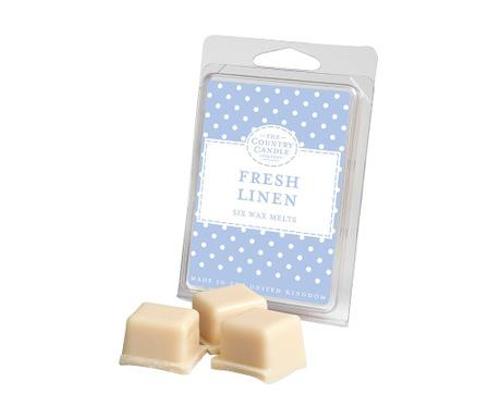 Set 6 kosov dišečega voska Polka Dot Fresh Linen