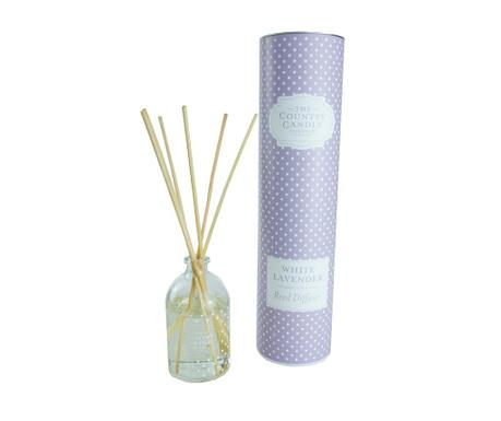 Polka Dot White Lavender Szobaillatosító illóolajjal és pálcikákkal 100 ml