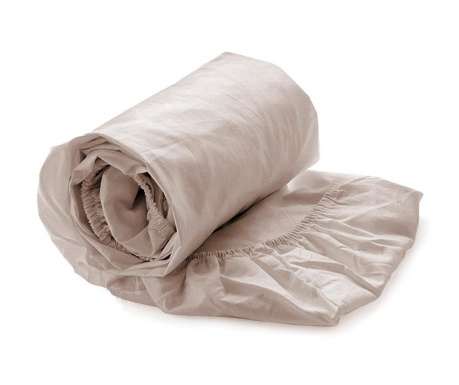 Cearsaf de pat cu elastic Satin Misty Rose 90x220 cm