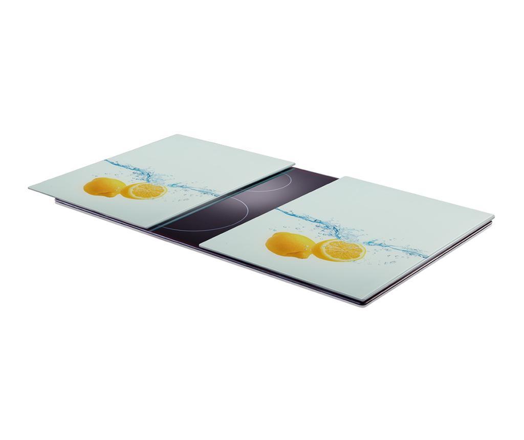 Set 2 planse protectoare pentru plita Lemon Splash