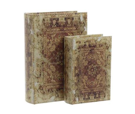 Комплект 2 кутии тип книга Vintage Words