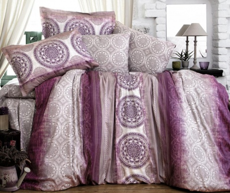 Komplet pościeli King Satin Supreme Colorada Purple