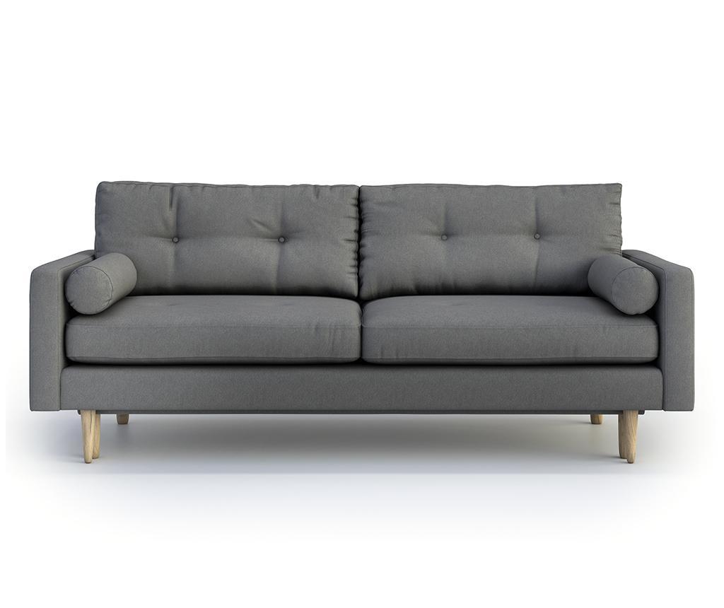 Canapea extensibila 3 locuri Pure Soro Dark Grey