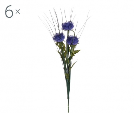 Set 6 flori artificiale Centaurea Blue