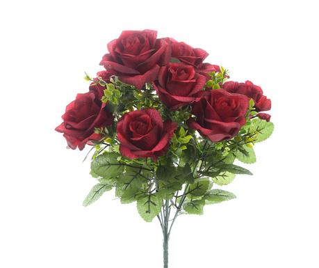 Изкуствено цвете Rosa Gypsophila Red
