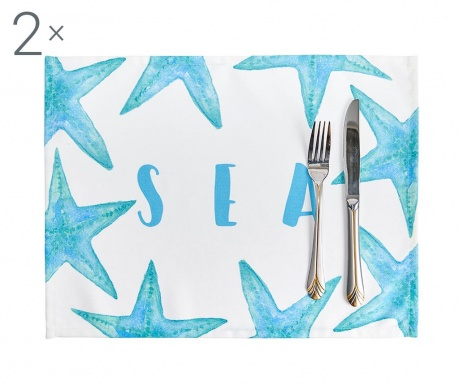 Zestaw 2 podkładek stołowych Starfish 33x45 cm