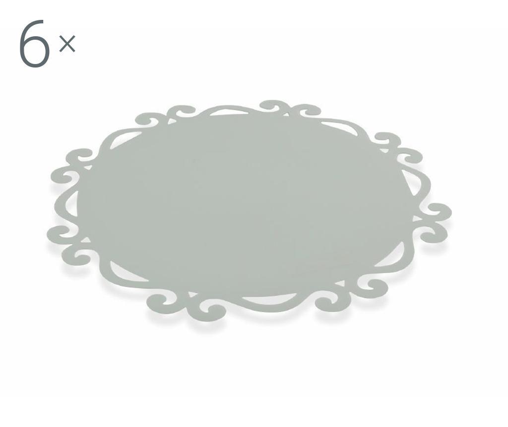 Dorian Round Grey 6 db Tányéralátét 44 cm