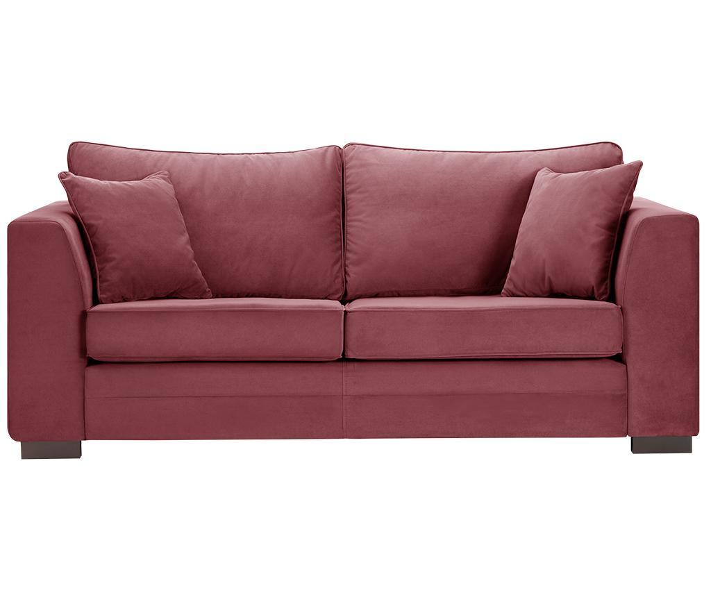 Canapea 3 locuri Taffetas Dark Pink
