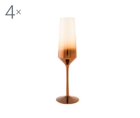 Set 4 čaše za šampanjac Olik 250 ml