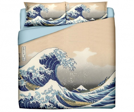 Posteljnina King Ranforce Hokusai The Great Wave