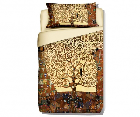 Set de pat Single Extra Ranforce Klimt Tree of Life
