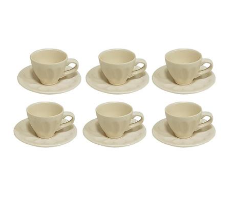 Сервиз 6 чашки и 6 чинийки Matt
