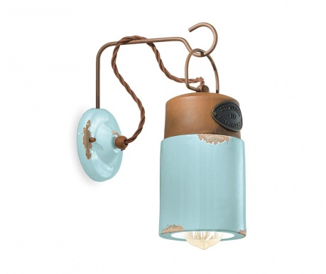Industrial Lantern Blue Fali lámpa