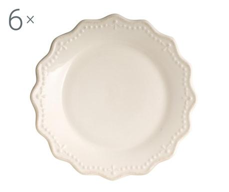 Sada 6 talířů na dezert Crown Ivory