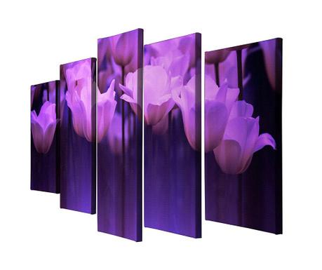 Sada 5 obrazů Tulip
