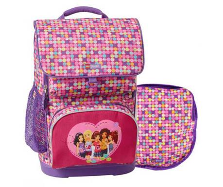 Set - nahrbtnik in športna torba Lego Friends Confetti Optimo Pink