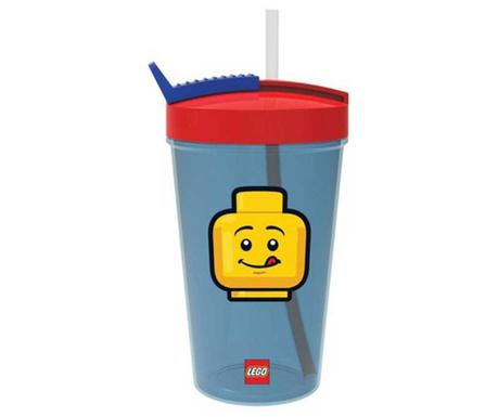 Skodelica s pokrovom in slamico Classic Boy Blue Lego 500 ml