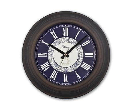 Nástěnné hodiny Retro Navy Blue
