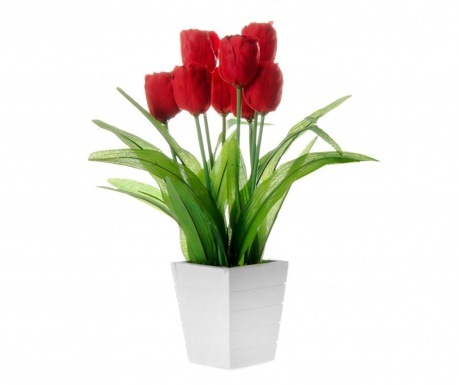 Sztuczny kwiat w doniczce Tulip Red