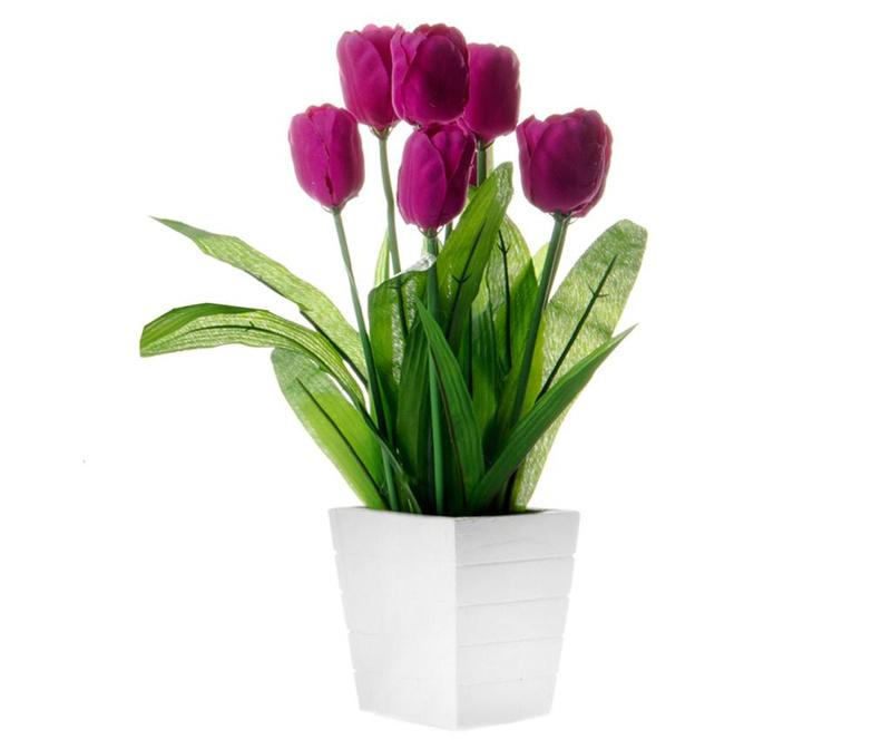 Umjetni cvijet u posudi za cvijeće Tulip Purple
