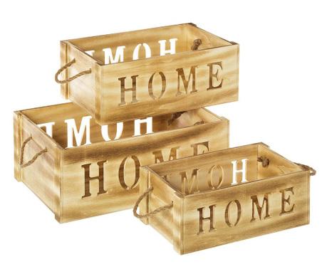 Zestaw 3 skrzynek do przechowywania Home