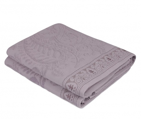 Set 2 kupaonska ručnika Noktali Sal Purple 90x150 cm
