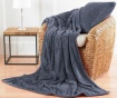 Perna decorativa Chevron Fleece Grey 43x43 cm