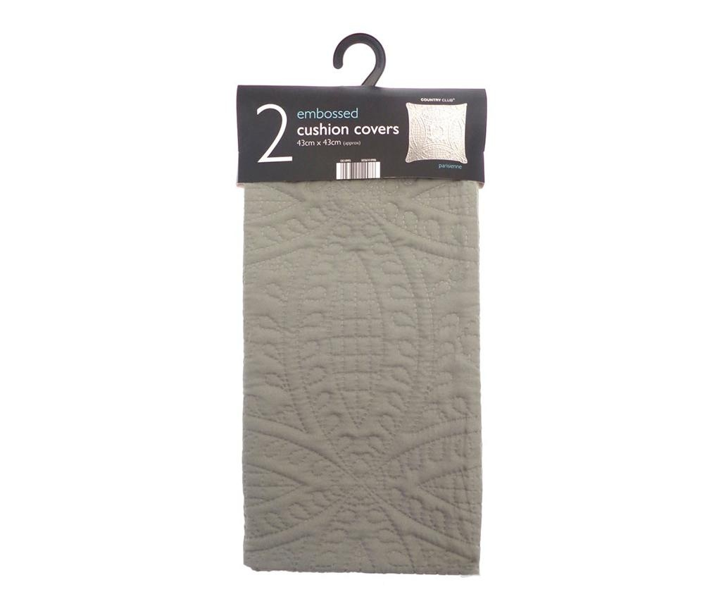 Set 2 fete de perna Parisienne Latte 43x43 cm
