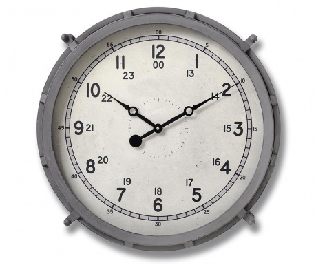 Стенен часовник Grey Drum