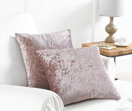 Zestaw 2 poszewek na poduszkę Bliss Pink 43x43 cm