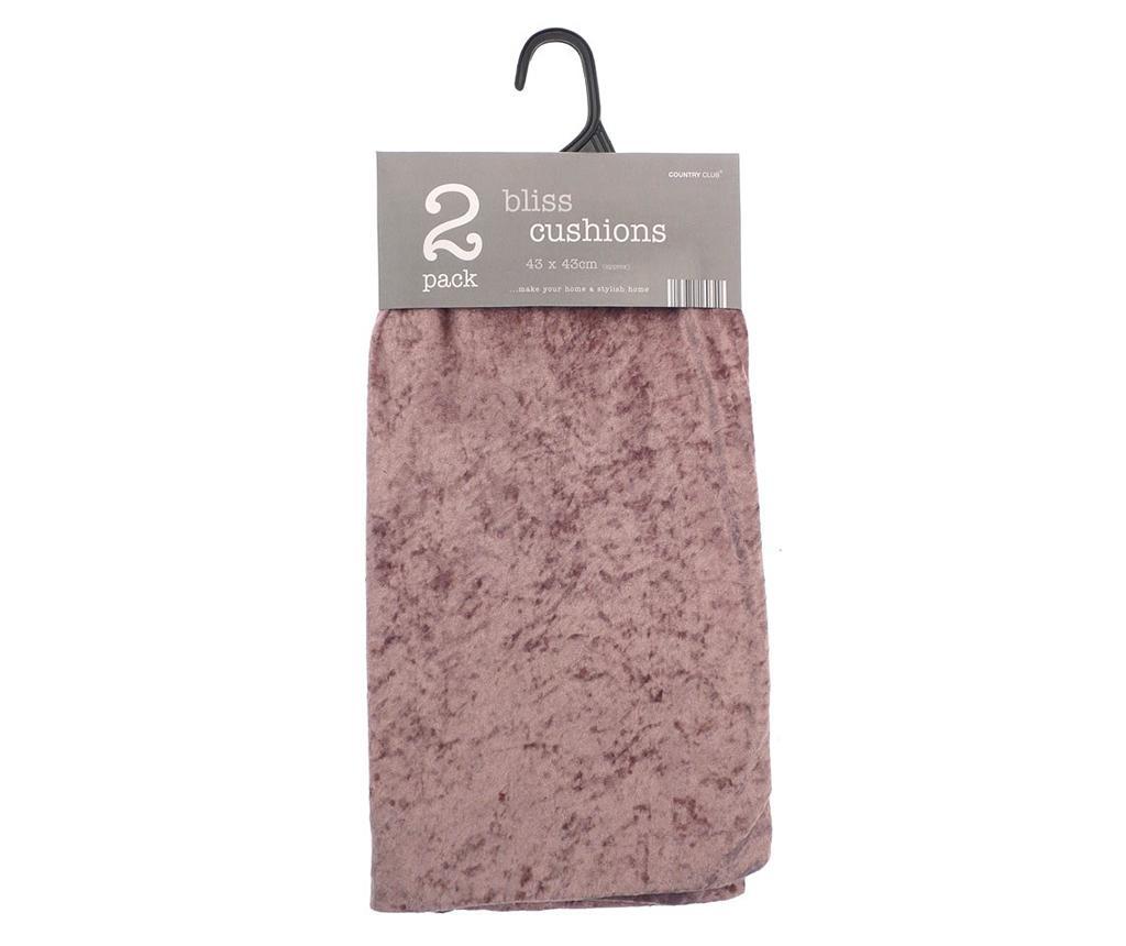 Set 2 fete de perna Bliss Pink 43x43 cm